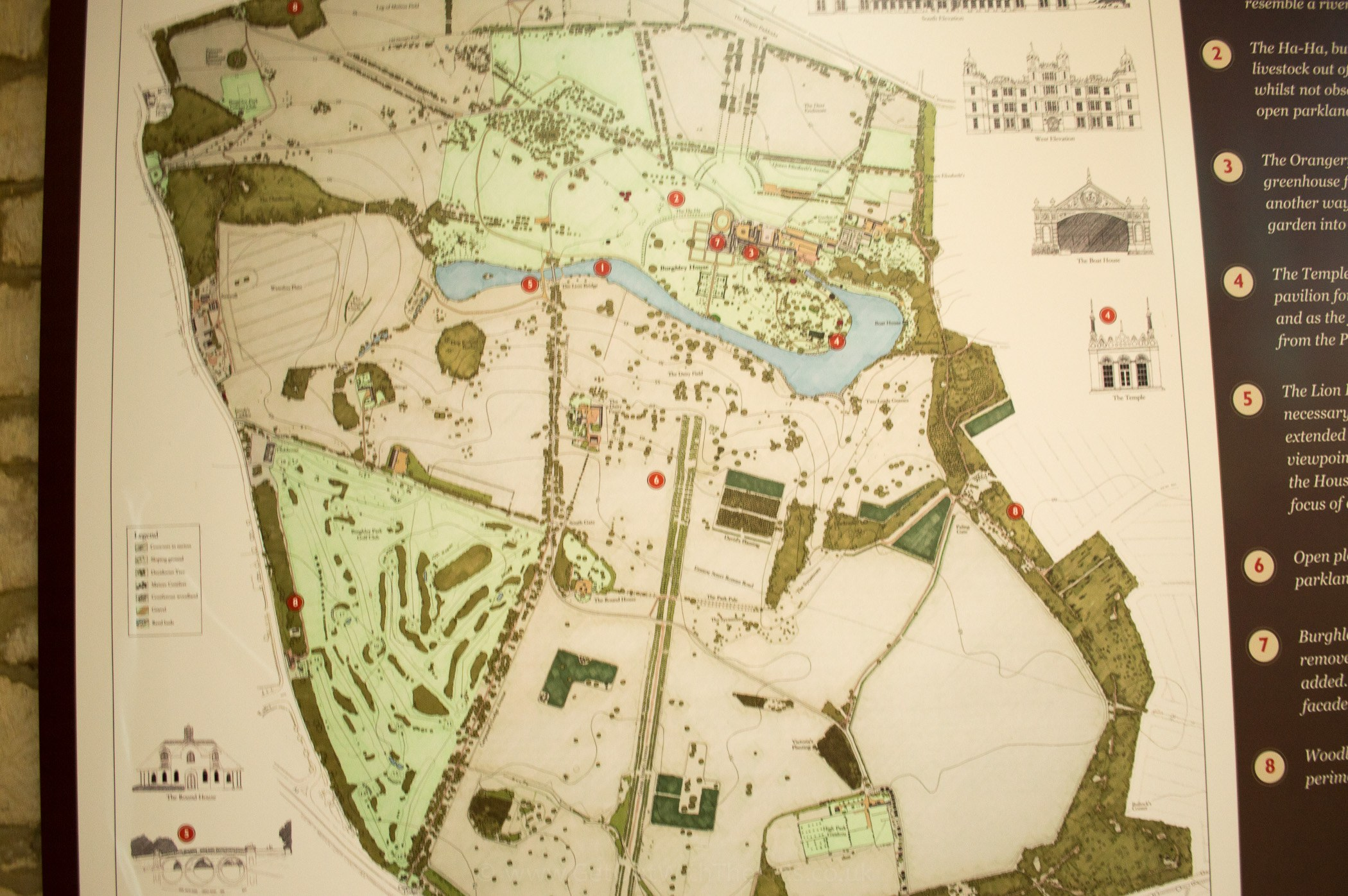 Burghley House Map