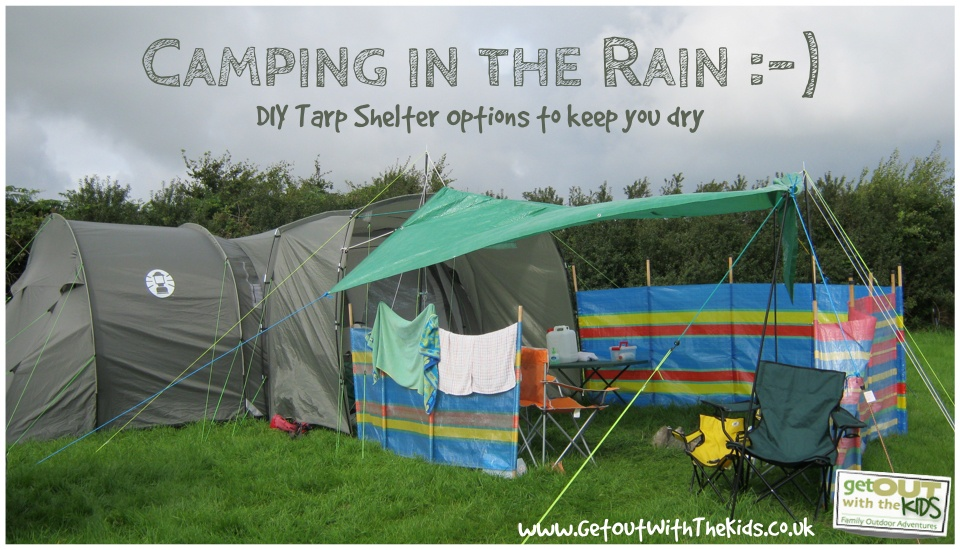 Creating a DIY Tarp Shelter & Using a Tarp with Your Tent - Stay Dry While Camping