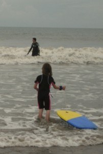 Body Boarding at Borth