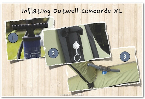 Inflating the Outwell Concorde XL