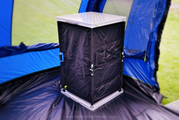 Outwell Lucia popup cupboard camping storage solution