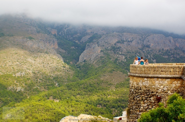 Admiring the view at Guadalest