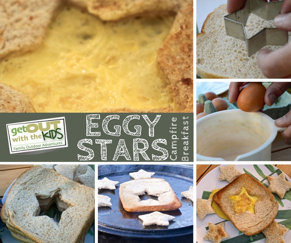 Heres A Simple And Fun Breakfast To Make Your Kids When Camping Eggy Stars Nice Twist On Bread