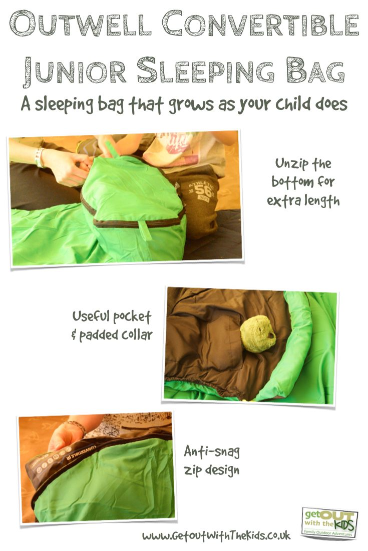 Outwell Convertible Sleeping Bag Features