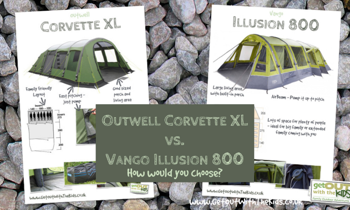 Vango Illusion 800 vs. Outwell Corvette XL