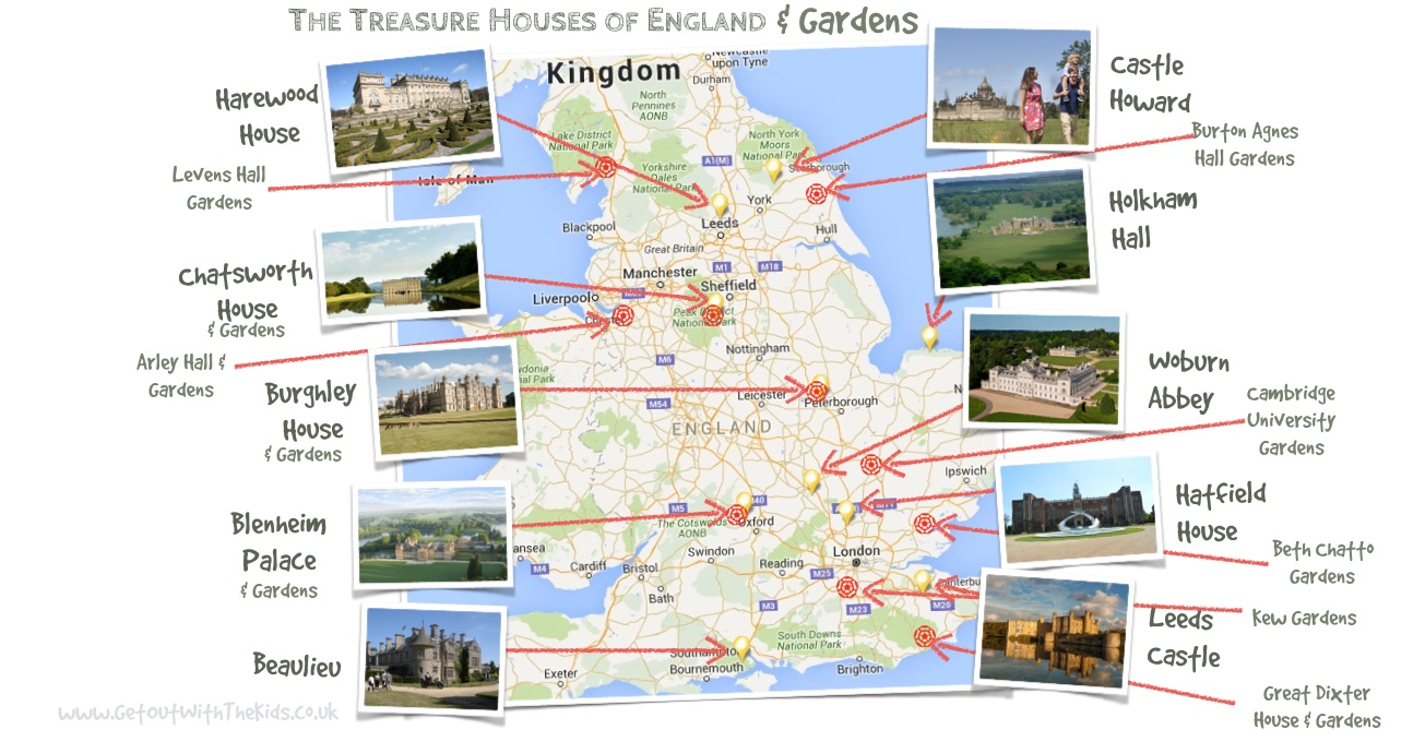 Treasure Houses and Gardens Map