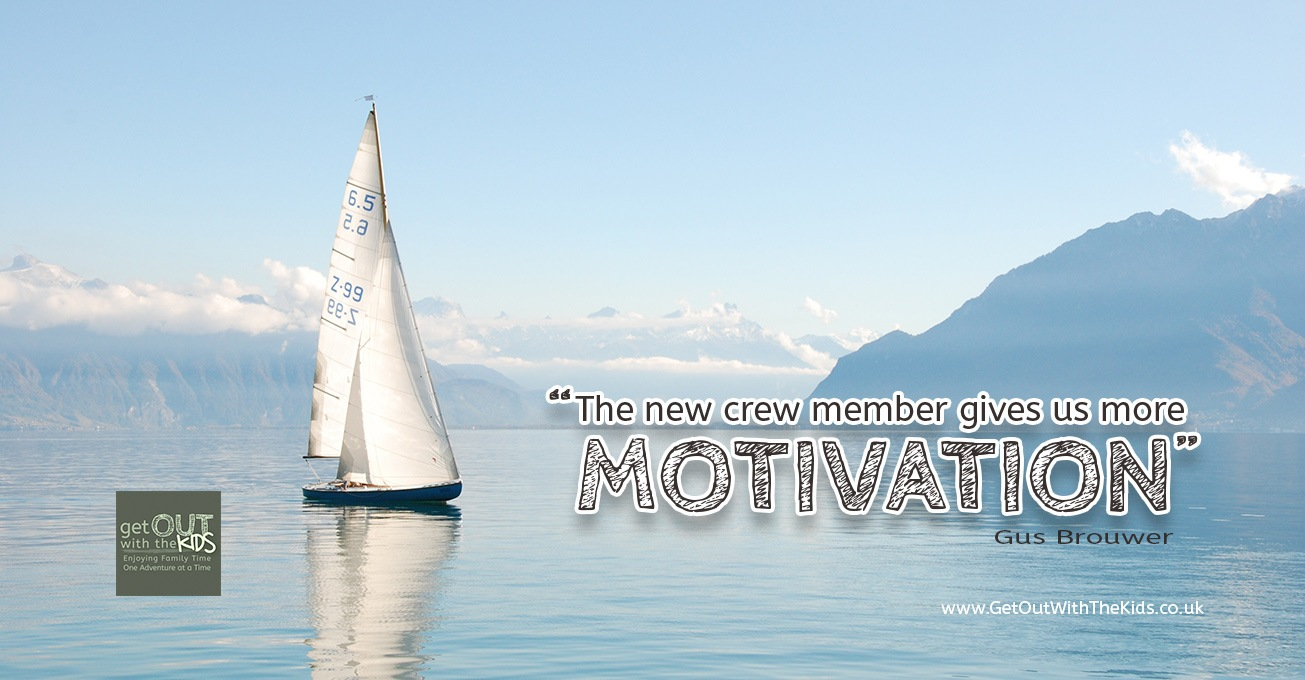 The new crew member has given us more motivation for sailing as a family