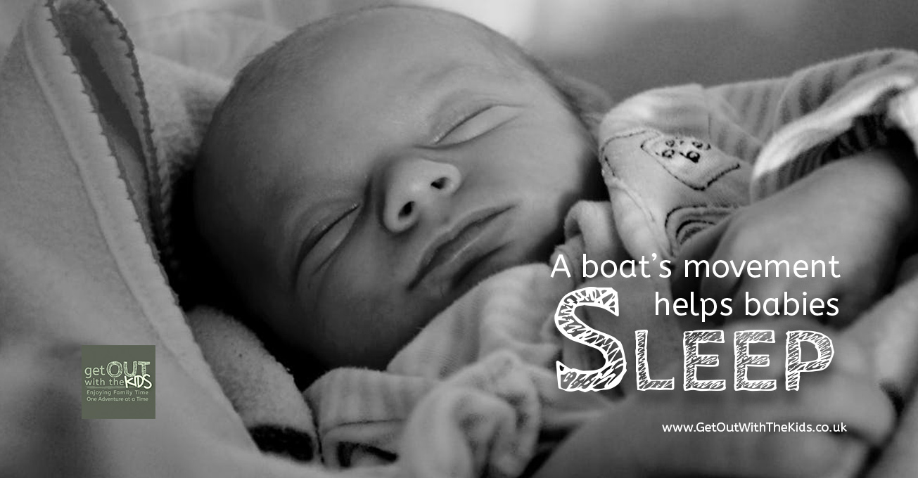 The boat's movement can help babies sleep