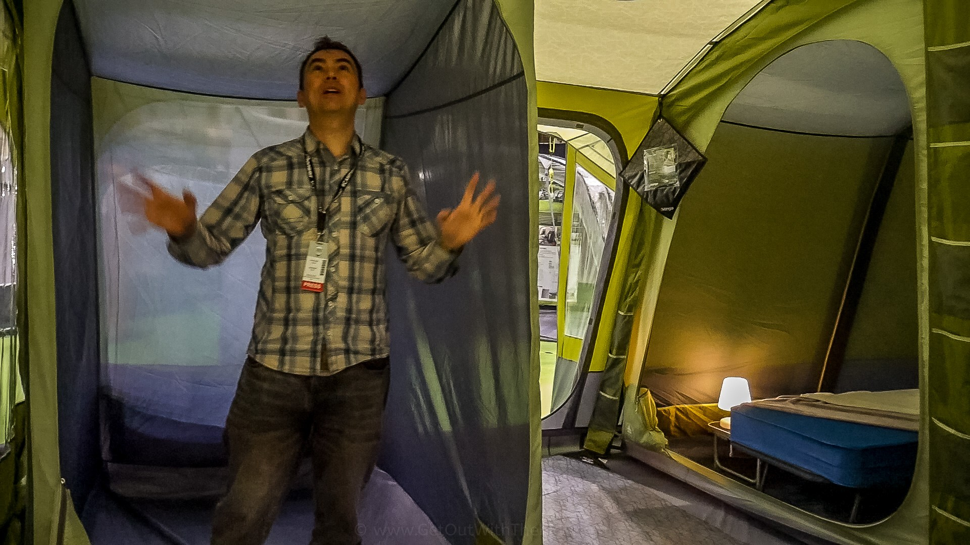 Inside the Vango Serenity tent