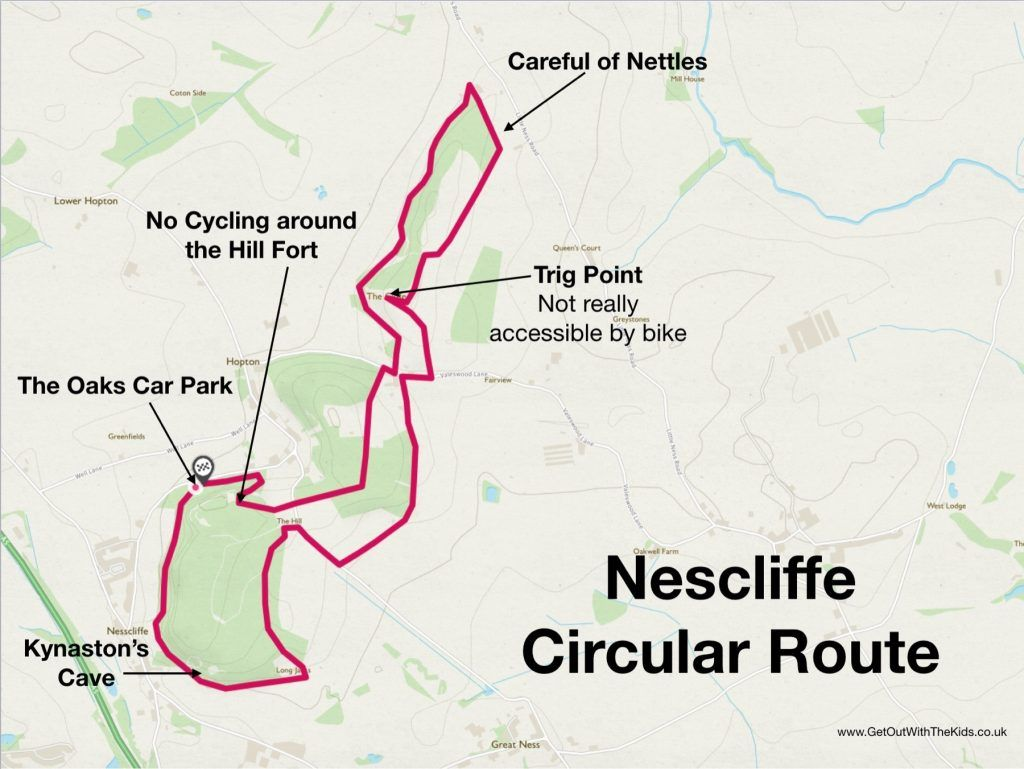 Nescliffe Circular Route Map