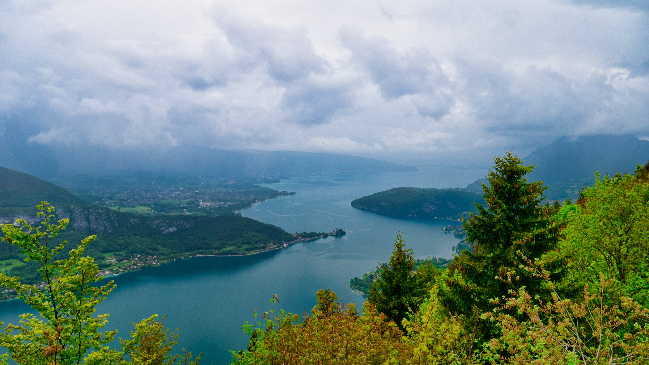 View of Lake Annecy from Col de la Forclaz