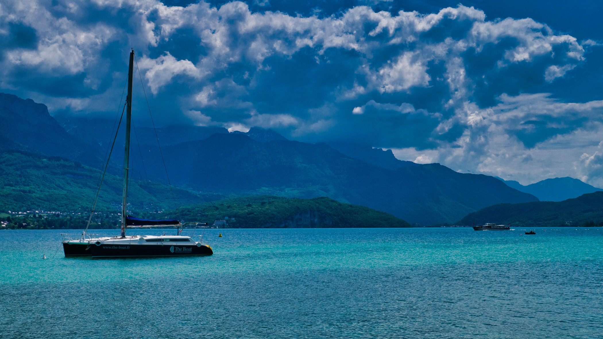 Blue waters of Lake Annecy
