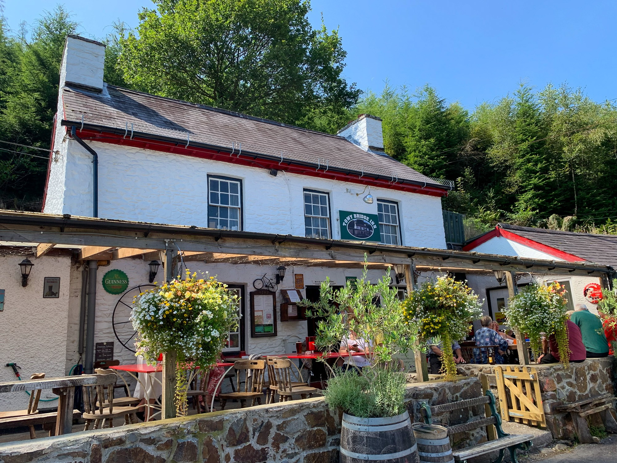 The Towy Bridge Inn near the Rhandirmwyn campsite