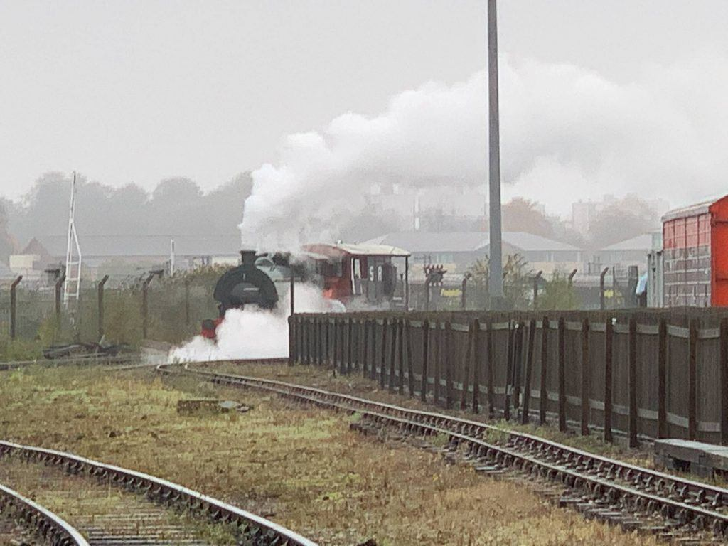 A steam train at the National Railway Museum