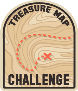 Treasure Map Challenge Badge